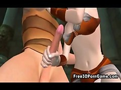 Hot and horny 3D toon babe getting fucked and facialed