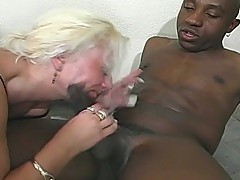 Nasty blonde chick gets ass fucking by big black dick