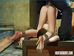 3d-animated Hentai Chick Is A Prisoner Who Gets A Different Kind Of Interrogation