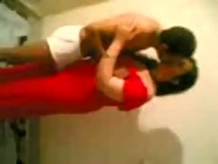 Sexy Arab wife in Red Dress fucked by lover