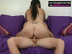 Latina bbw devyn gives blowjob and titty fucks before pussy pounding