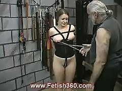 Bad girl getting nipple punished