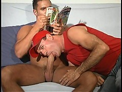 Latino bodybuilder with giant cock
