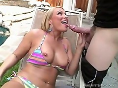HoT Blond MILF Shows Stud How To Play