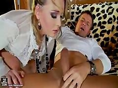 Kitty Cat Is A Yummy Young Blonde Who Plugs Her Ass With A Dildo Before Real Anal Sex