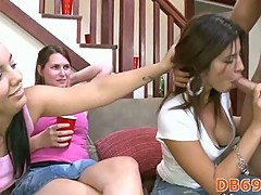 Hot girls doing blow job
