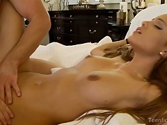 Sexy Melanie Jane takes a huge prick in her moist cunt