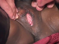 Angry white man fucks ebony anal divas in latex