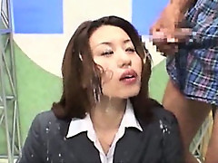 Japanese newsreader bukkake