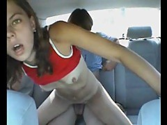 Dirty girlfriend banged in the car