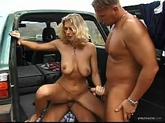 Double Vaginal Penetration For Blonde Gabriella Tchekan in Threesome