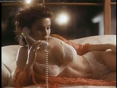 Stunning Shannon Whirry Laying on a Bed In Hot White Lingerie