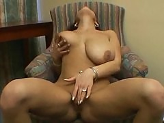 Busty girl nude and rubbing clit