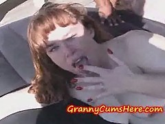 GRANNY is a CUM WHORE SLUT