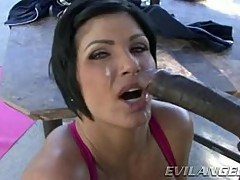 Shay Fox gets her face plastered with warm dick juice