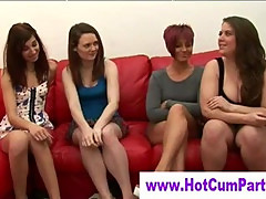 Cfnm british sluts handjob and cumshot