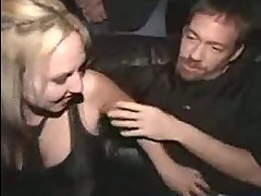 Exhibitionist blowjob in public