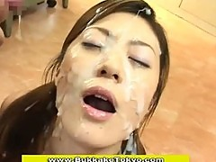 A rather sticky japanese sperm shower