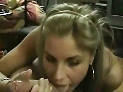 Smoking handjob and massive facial
