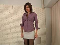 Awesome Pantyhose Footjob by Japanese Girl