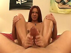 Misty haze footjob
