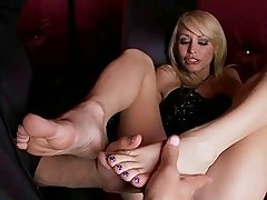 Monique Alexander having footsie fun