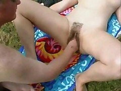 Fisting French Mature Outdoor