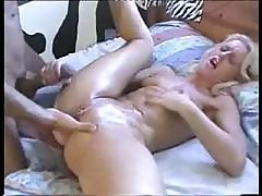 Hot Cutie Blonde Likes To Get Her Tiny Pussy Fisted And Fucked