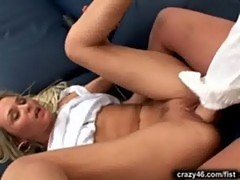 Blonde hottie gets fisted