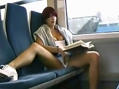 Nice girl Playing With Pussy In Train