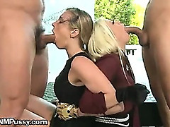 A Young Widow Giving A Blowjob