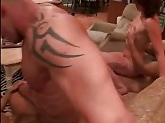 Busty brunette and randy whore with pierced nipples get ramm...