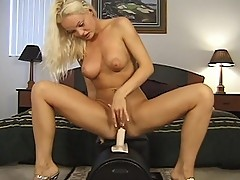 Blond chick has too many toys to fuck