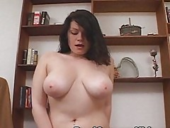 Tosha Busty Brunette Orgasms on the Sybian