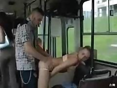 So Horny They Fuck On The Public Bus!