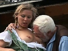 Grandpa pierce young fresh pussy