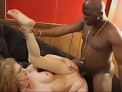 Mature women takes this big hard black dick