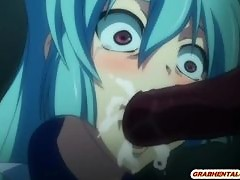 Hentai girl fucking with tentacles and filling with full semen