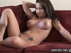 Massive boobs brunette girlfriend pussy banging caught on tape