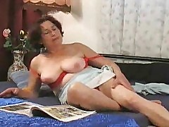 Horny housewife humps the gardener 1/6