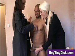Small cock humiliation handjob