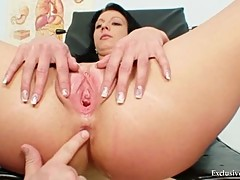 Gabina humiliated during kinky gyno speculum exam by ol