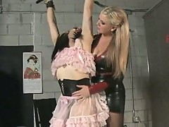 Lexi and jade in hot sissy discipline as tranny slut bound for fun