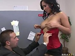 Lovely And Seductive Brunette Screws A Big Cock At The Office