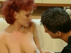 Redheaded Babe Donna Marie Takes Care Of Stevens Cock On The Couch Sucking It Ha