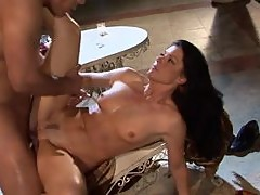 Drunk Brunette MILF India Summer Gets Fucked Doggy Style and Facialized