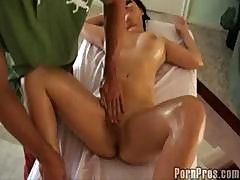 Busty Nadia Gets A Massage And Then Sucks His Dick For Thanks