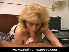 Busty blonde mature slut fucked hard at the motel