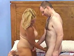 Hot facial for mature blonde