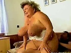 Crazy old mom gets big cock oral and in her pussy deep